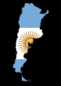 argentina_flag_map